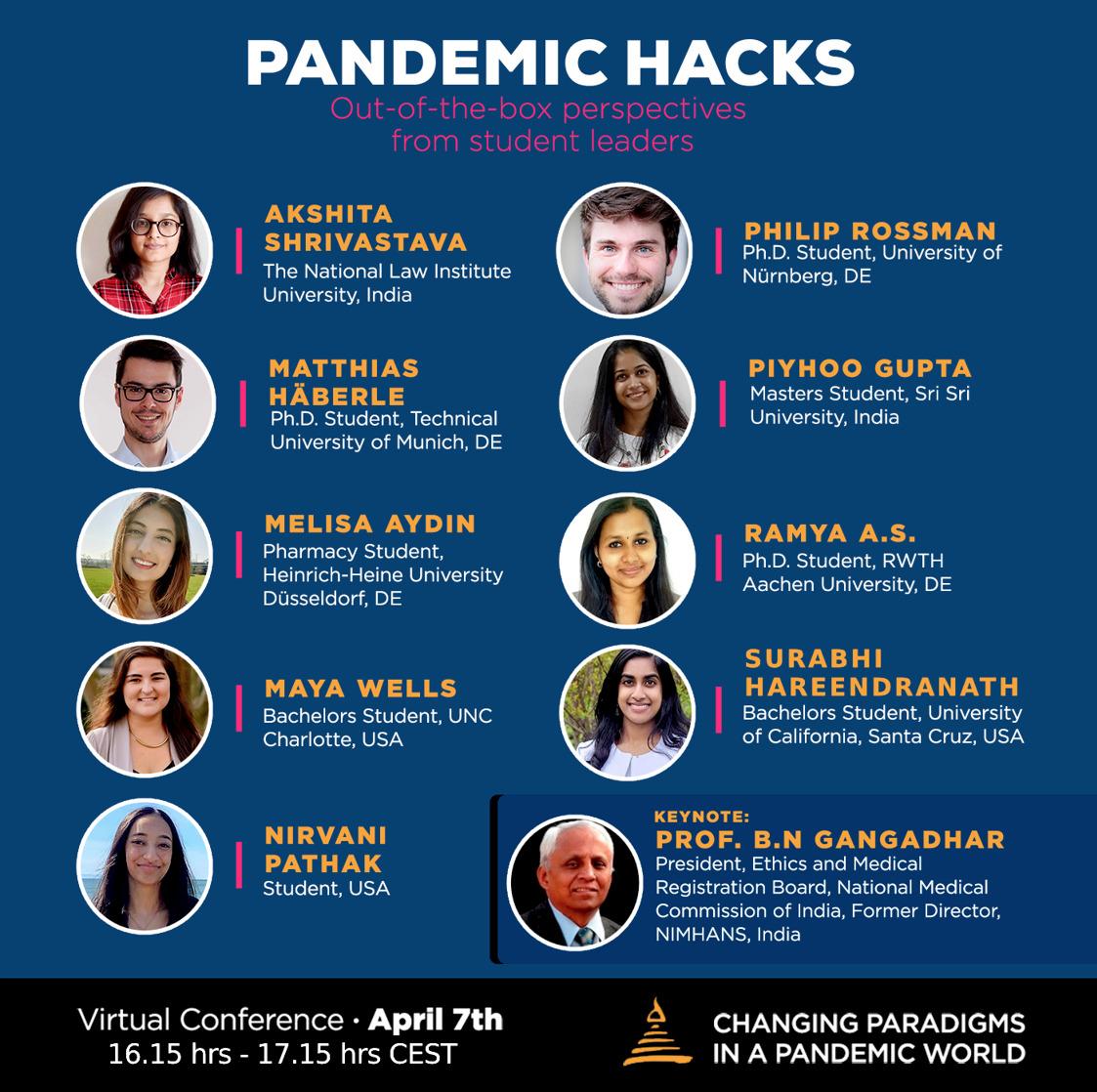 PANDEMIC HACKS Virtual Talk